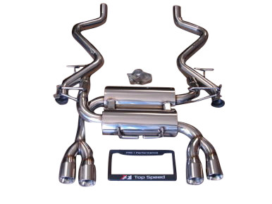 BMW E90 E92 M3 08-13 Rear Section Exhaust Systems Polished Bevel Edge Tips