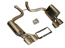 Mercedes Benz R230 SL55 AMG 03-08 T304 Axle Back Exhaust Systems Quad Oval Tips
