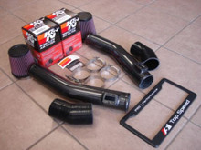 Nissan Skyline GTR R35 09-14 70mm Dual Carbon Fiber Air Intake System + K&N Filter