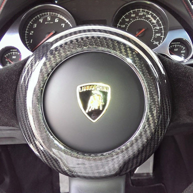 Lamborghini Gallardo 04-14 Carbon Fiber Steering Wheel Center Cover