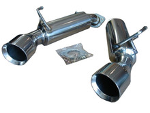 NISSAN 370Z Z34 BASE & NISMO 09-14, Infiniti G37 VQ37VHR 09-14, 370GT COUPE 09-14, Q60 COUPE 14-16, Dual Axle-back Exhaust System Bevel Edge Tips