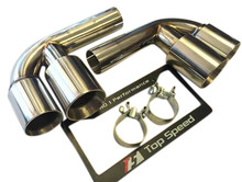 Porsche 911 996 Carrera & GT3 98-04 Muffler Bypass Pipes Quad Tips