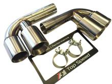 Porsche 911 996 Carrera & GT3 98-04 Muffler Bypass Pipes Quad Tips