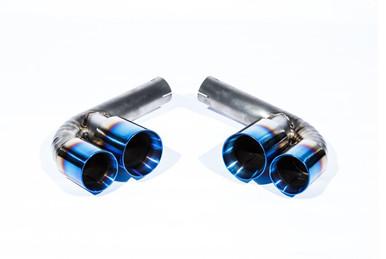 Porsche 911 996 Carrera & GT3 98-05 Titanium Muffler Bypass Pipes Quad Tips