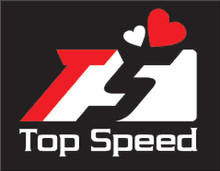 "Top Speed Pro-1 Performance 2-Tone 3""x2.5"" Valentine's Day Decal"