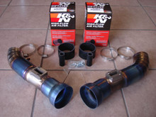 Top Speed Pro-1 TITANIUM Air Intake Systems + K&N Filters 370Z Z34 VQ37VHR 09-15