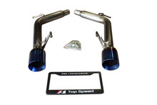 Infiniti G35 G37 Sedan 07-14 Top Speed Pro-1 Titanium Axle-Back Exhaust System Bevel Tips