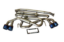 GTR R35 TOP SPEED PRO-1 100% Full Titanium Straight Y-Pipe Back Exhaust System