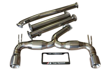 Mitsubishi Lancer Evolution 10 EVO-X 08-15 Top Speed Pro1 Exhaust System Bevel Edge Tip