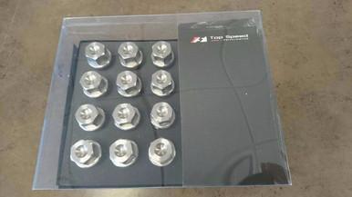 Full Titanium Wheel Lug Nut Lug Nuts Stud Wheel Bolt fits Most Lamborghini