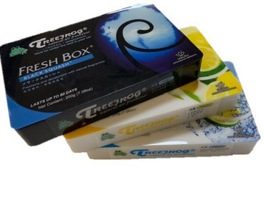 TREEFROG AIR FRESHENER FRESH BOX / Xtreme Fresh BLACK SQUASH / LEMON / MARINE SQUASH