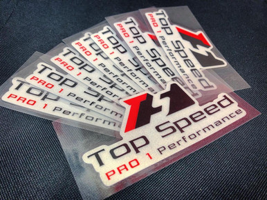 "Top Speed Reflective Glow in the Dark Decal 5""x2.5"""