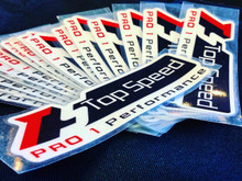 """Top Speed Reflective Glow in the Dark Decal 7""""x2.50"""""""