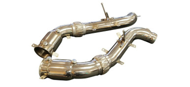 """Top Speed Pro1 McLaren 570S 570GT 570C 600LT 16-19 3.5"""" 200 CELL HFC Turbo Down Pipes"""