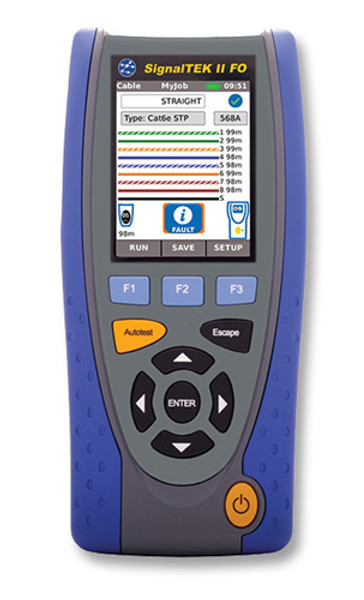 Ideal R156001 SignalTEK II FO Gigabit Copper + Fiber Qualifier