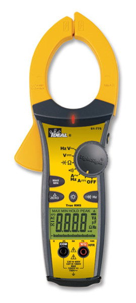 Ideal 61-775 TightSight TRMS AC/DC Clamp Meter / Ammeter, 1000A