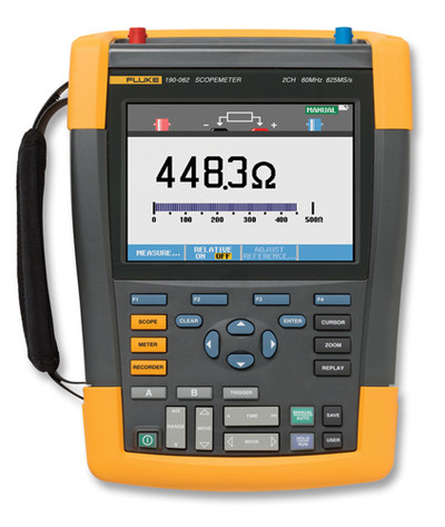 Fluke 190-202/AM ScopeMeter Series II Oscilloscope 200MHz 2Ch