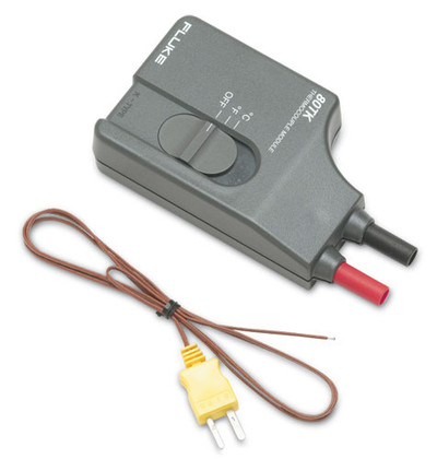 Fluke 80T-K Temperature Thermocouple Module w/ Bead Probe