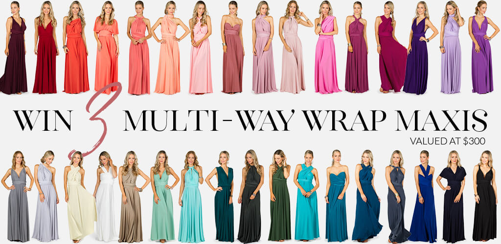 Win 3 Multi Way Wrap Dresses