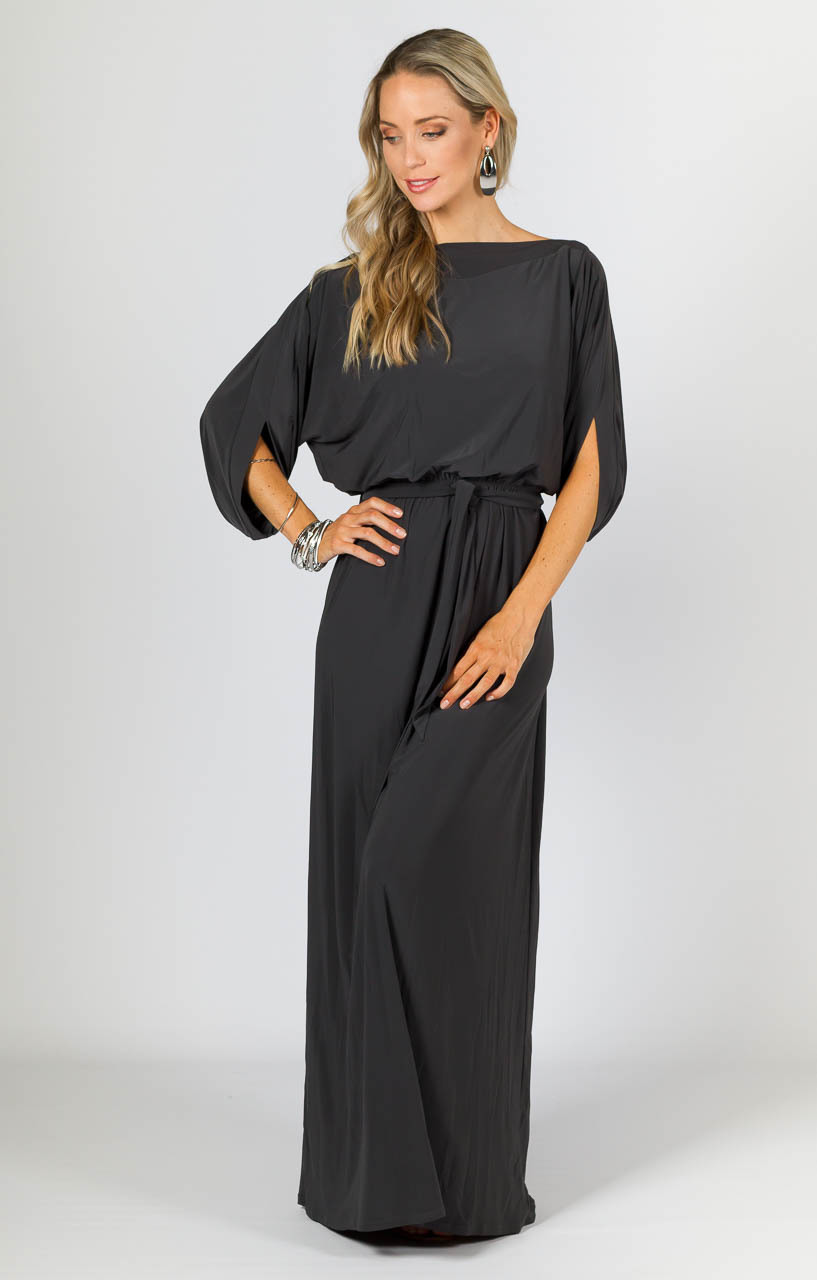 b7ac53ea15cf0 This frock will single out your waist with its elasticised waist and removable  belt. The Alexa also features flattering batwing sleeves. Pair the Alexa  Maxi ...