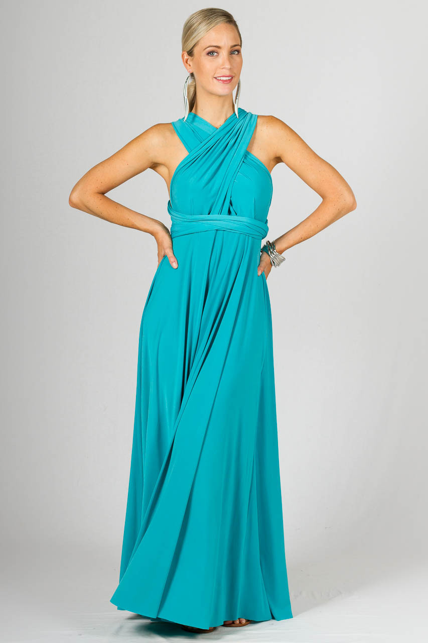 Multi-Way Wrap Maxi Aqua - Get This Versatile Dress Online