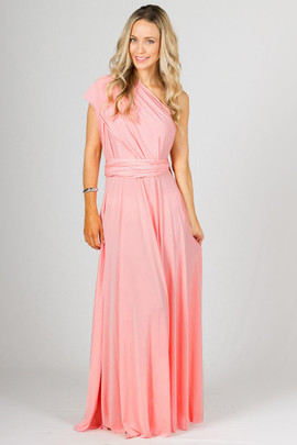 Multi Way Wrap Maxi - Pale Pink