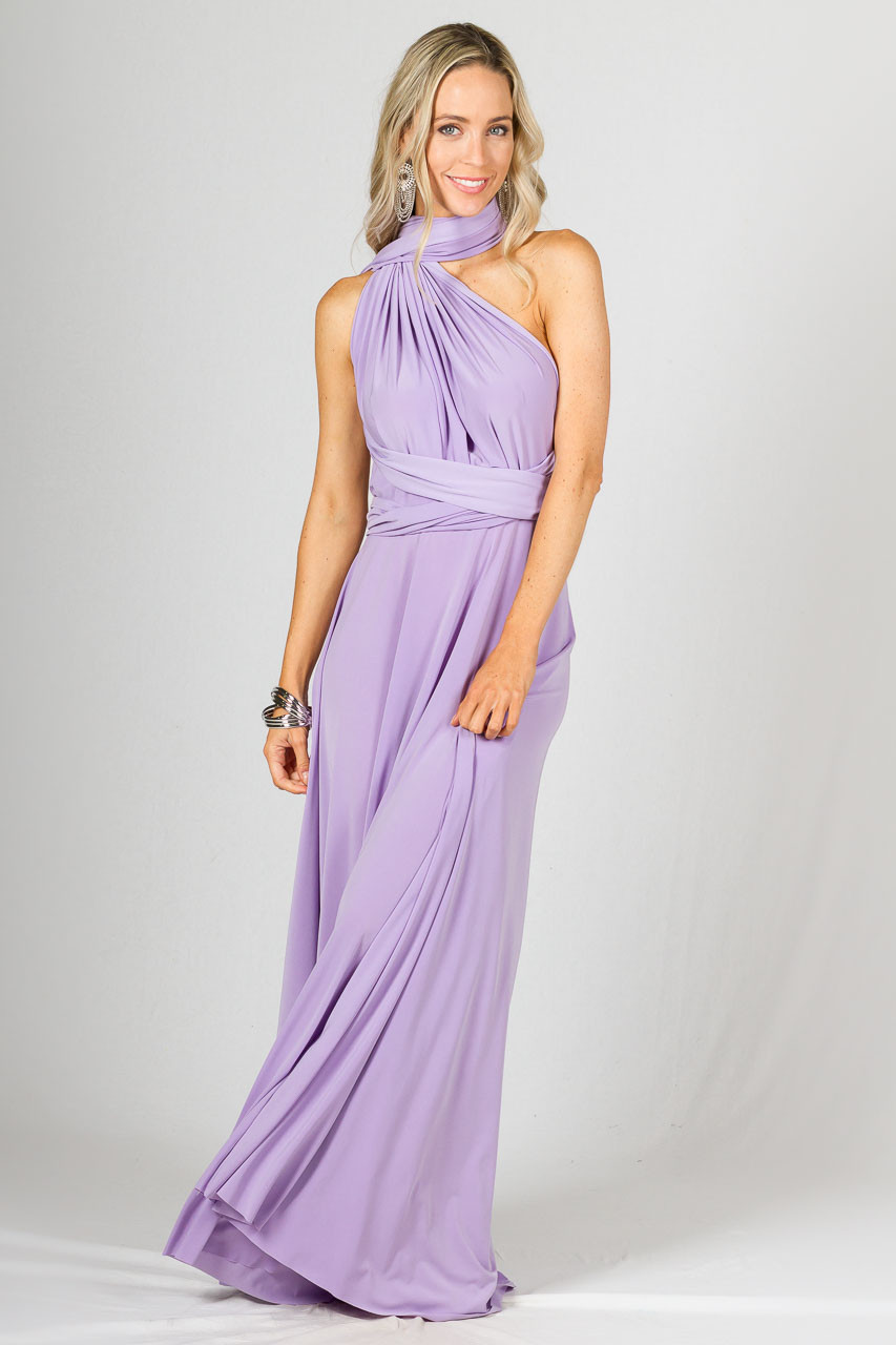 Multi-Way Wrap Maxi Lilac - Get This Versatile Dress Online
