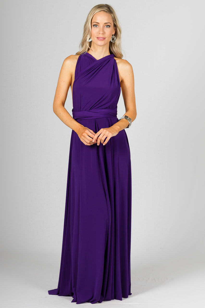 Multi Way Wrap Maxi - Purple - P.S. Frocks