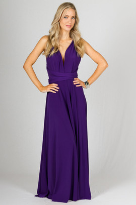 Multi Way Wrap Maxi - Purple