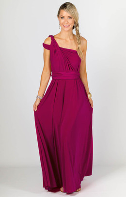 Multi Way Wrap Maxi - Fuchsia