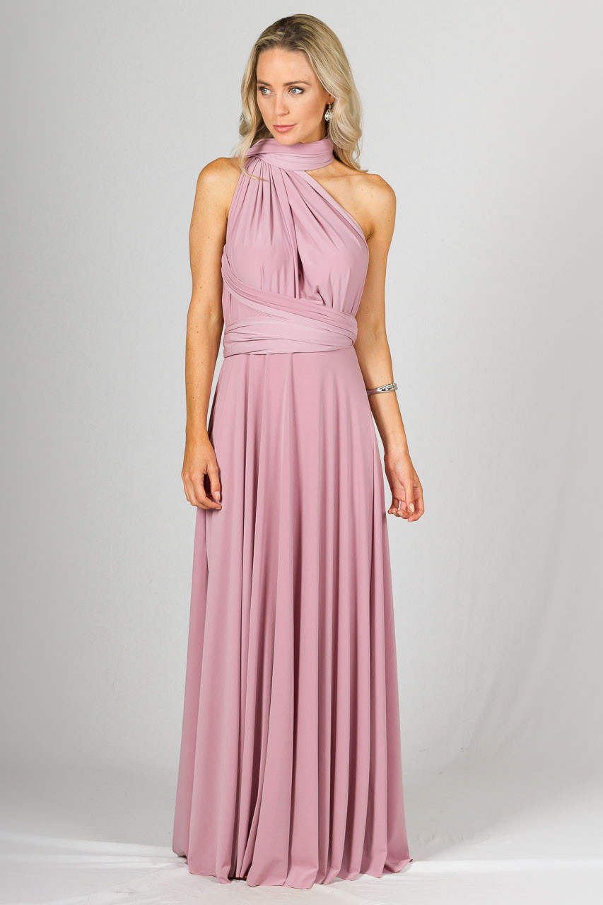 Multi way wrap maxi dusty pink ps frocks ombrellifo Images