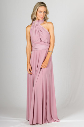 Multi Way Wrap Maxi - Dusty Pink