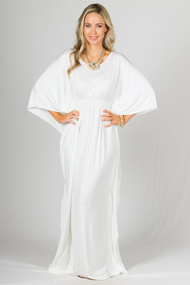Luna Maxi Dress - White