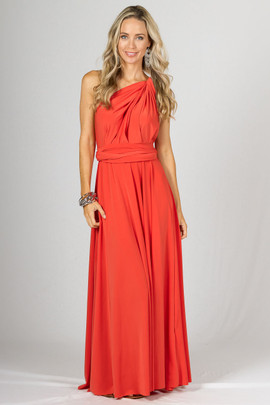 Multi Way Wrap Maxi - Tangerine