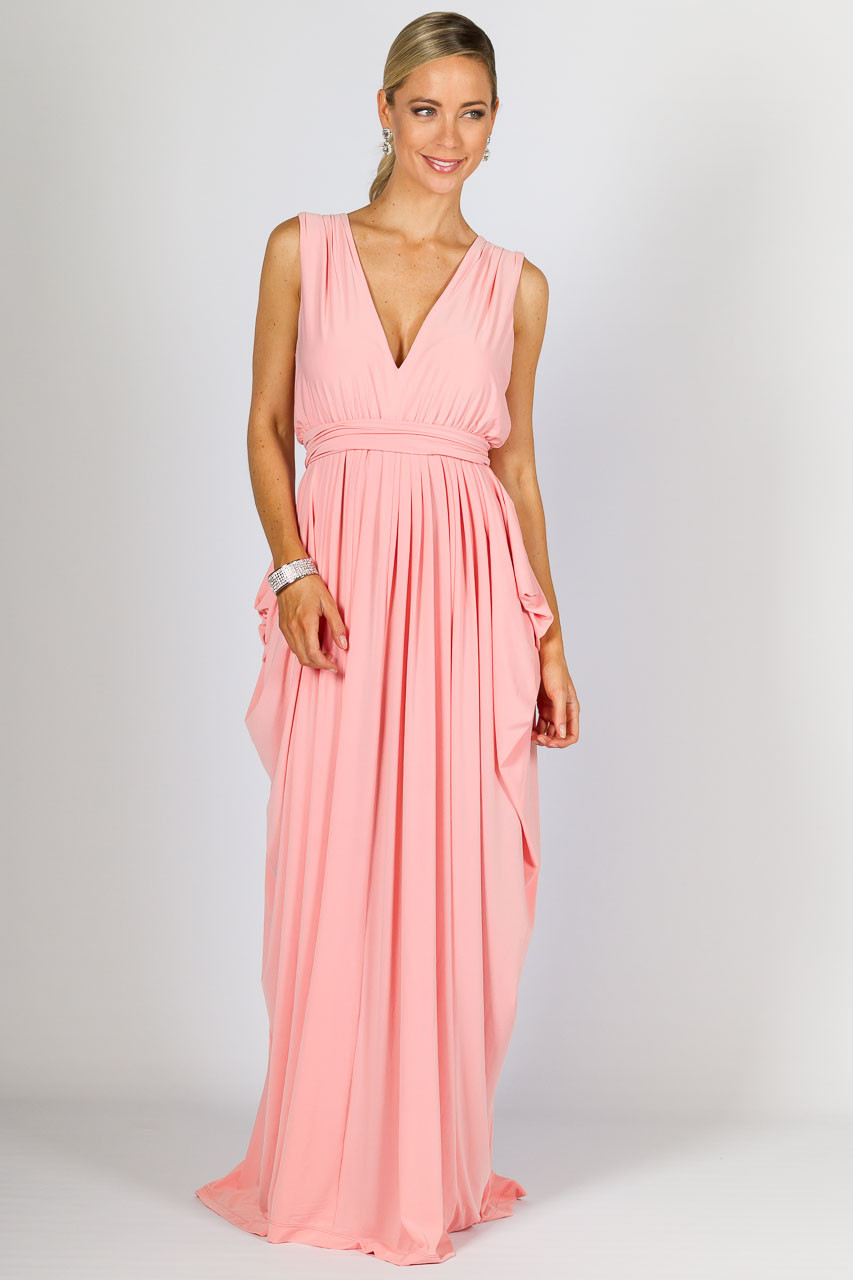 Aphrodite Maxi Dress - Pale Pink - SUPERSEDED COLOUR STOCK - P.S. Frocks