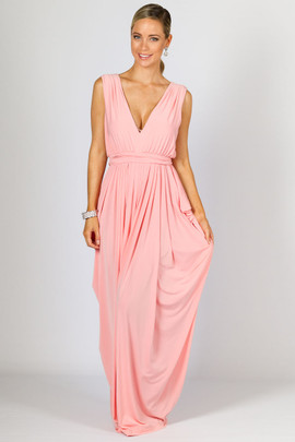 Aphrodite Maxi Dress - Pale Pink