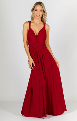 Multi Way Wrap Maxi - Sangria