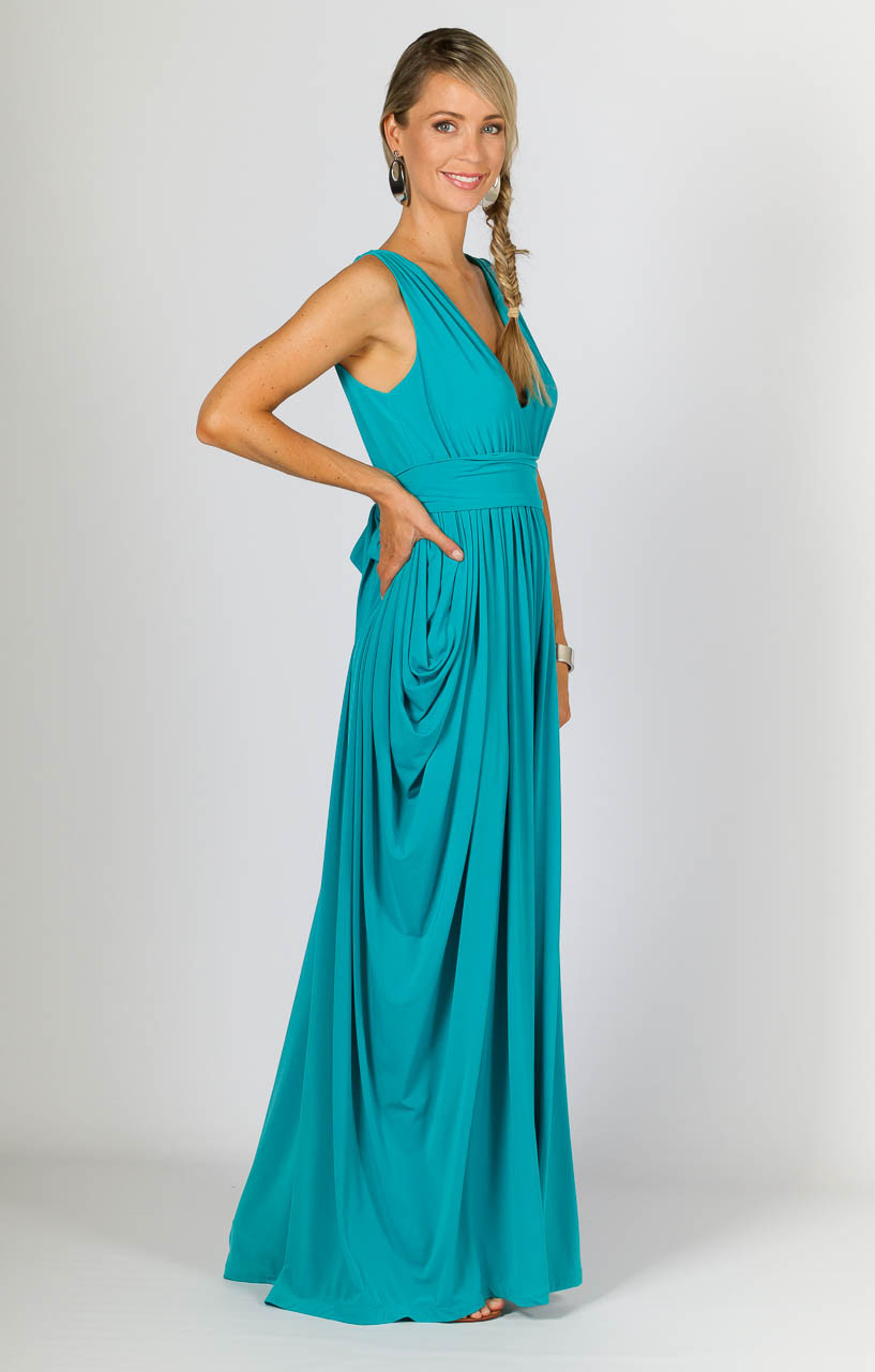 Aphrodite Maxi Dress - Aqua - SUPERSEDED COLOUR STOCK - P.S. Frocks