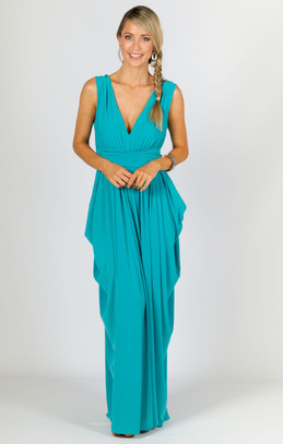 Aphrodite Maxi Dress - Aqua