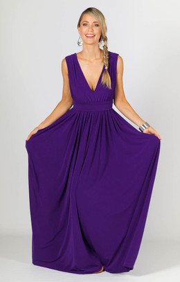 Aphrodite Maxi Dress - Purple
