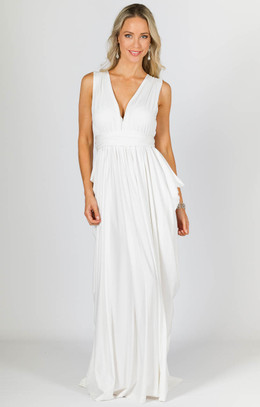Aphrodite Maxi Dress - White
