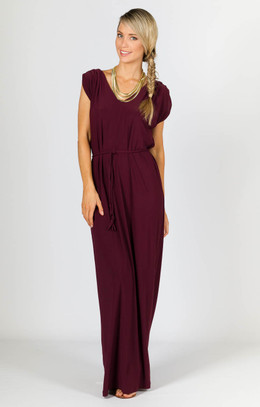 Rebecca Maxi Dress - Mulberry