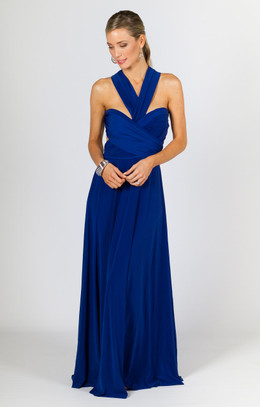 Multi Way Wrap Maxi - Cobalt