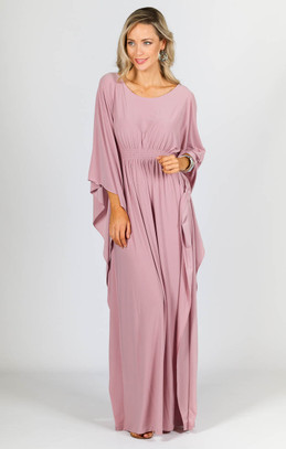 Luna Maxi Dress - Dusty Pink