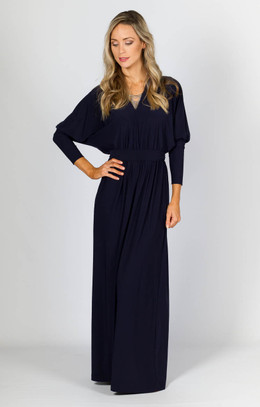 Kat Maxi Dress - Navy