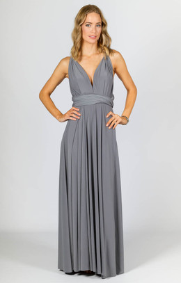 Multi Way Wrap Maxi - Pewter