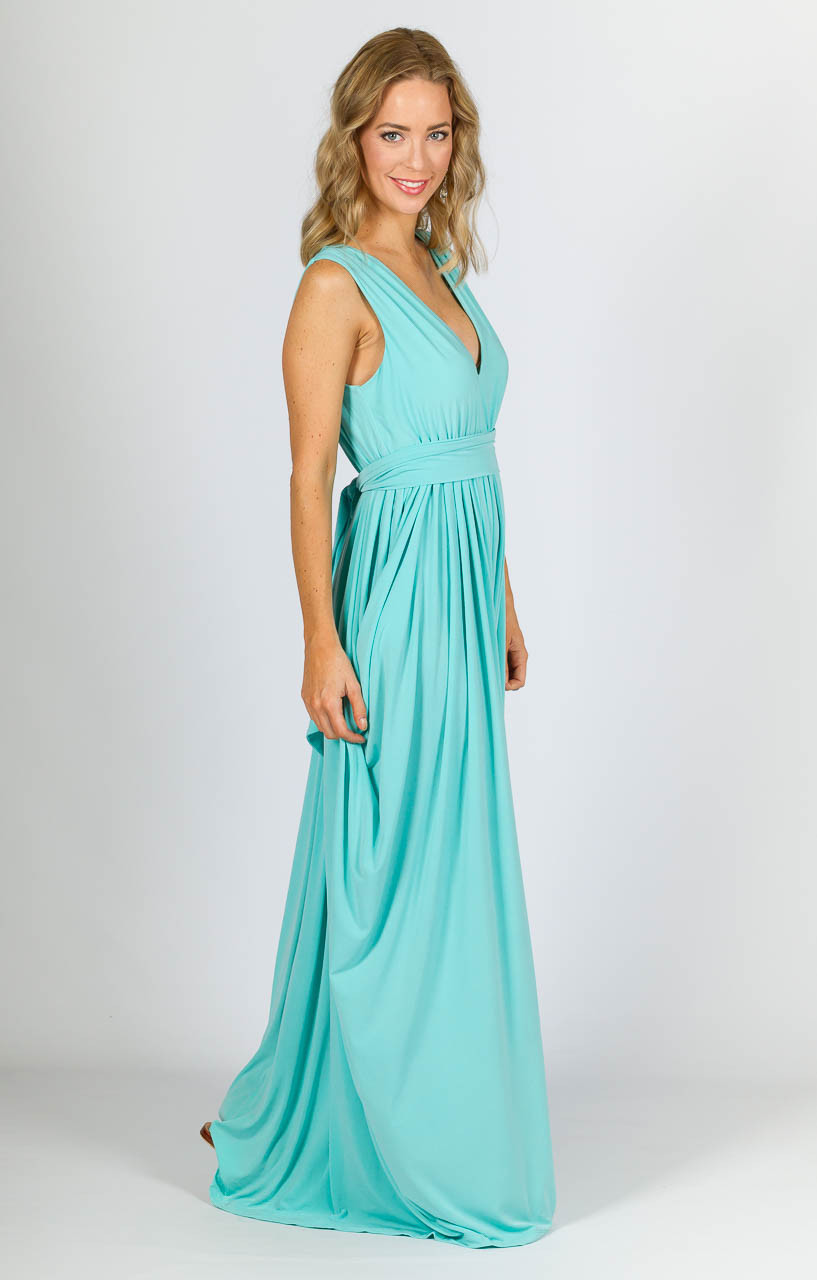Aphrodite Maxi Dress - Mint - P.S. Frocks