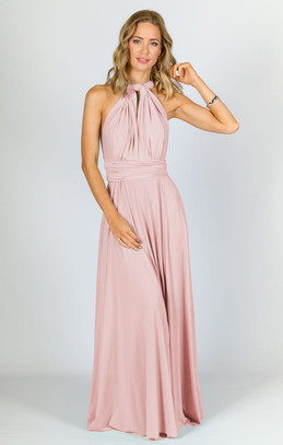 Multi Way Wrap Maxi - Baby Pink