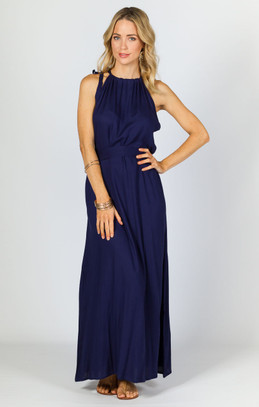 Athena Maxi Dress - Navy