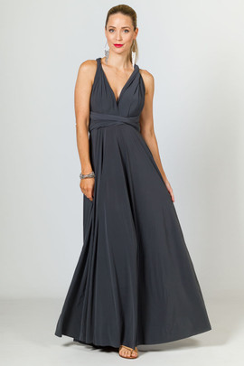 Multi Way Wrap Maxi Dress - Slate